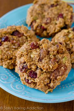 Quick & easy Breakfast Cookies. Dump all of the healthy ingredients into a bowl and mix! They are ready within 30 minutes. Grab them and go! - gluten free