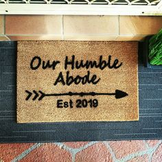 Welcome 🙏 your friends and neighbours with one of these doormats. Make them feel how proud you are of your 🏡🏡place.  For further options visit www.personaliseddoormats.com.au  #afterpayobsession #afterpay #uniqueobsession #australiawide #australiawideshipping #supportsmallbusiness #lmbdw #mumswhoshop #brisbanemums #goldcoastmums #queenslandbusiness #personaliseddoormats #familyname #personalisedgifts #fronthomedecor #frontroomdecor #homemade #homeinspiration #homeinspo… Front Room Decor, Doormats, Support Small Business, Humble Abode, Gold Coast, Brisbane, Personalized Gifts, Homemade, Feelings