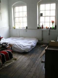 light, floors and bohemian furnishings