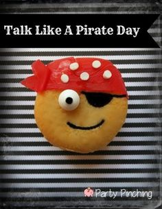 pirate cookie, talk like a pirate day, pirate party ideas