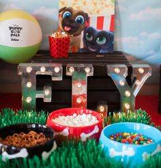 "Make your puppy party magical & delicious with this Puppy Dog Pals ""pup""corn bar 