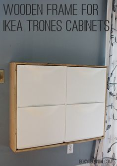 Make a birch plywood wooden frame for Ikea Trones Shoe storage cabinets.
