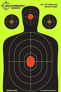 NEW-50-Pack-12-x-18-Gun-Reactive-Splatter-Targets-GlowShot-Rifle-SILHOUETTE $39.19 at www.ebay.ca