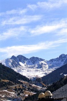 Pyrenees Mountains - Soldeu - Andorra. The Pyrenees Mountains as seen from Soldeu - one of the resorts in the Grandvalira ski area in Andorra. You can see the ski runs in the distance. #Andorra #skiingandorra #Soldeu