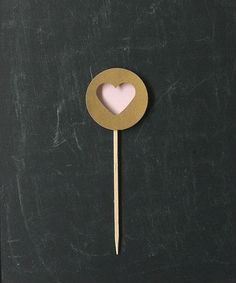 Gold Pink Heart Cupcake Toppers by Kiwi Tini Creations, Cupcake decorations, wedding cupcake toppers