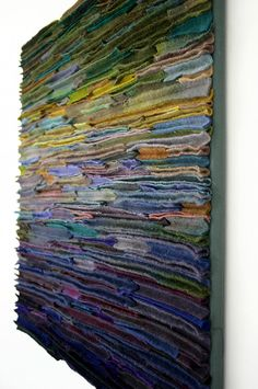 """Wool Fiber Art Wallhanging / Along the Stream Banks"" by TexturesGallery"