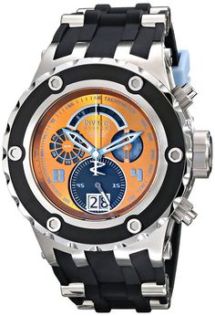 Invicta 16253 52 mm buzos de acero inoxidable para hombre de silicona de color negro para hombre reloj retardante de fusion
