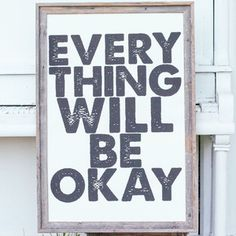 Everything Okay White 24.25x36 now featured on Fab.