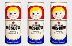 THIS PACKAGING IS SOOOO CUTE! Ginger Beer  by Herbal Moscow.