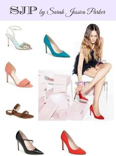SJP by Sarah Jessica Parker Shoe Collection- love the teal pumps and the peach peap-toes