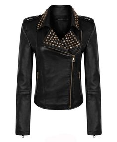 Stud Leather Biker Jacket #Chicnova Fashion