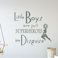 Zoomie Kids Godinez Little Boys Are Just Superheroes Quote Wall Sticker Color Gray In 2020 Disney Wall Decals Wall Quotes Decals Wall Quotes