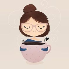 Warm coffee - Art and Illustrations - Art And Illustration, Coffee Illustration, Illustrations, Doodle Drawings, Cute Drawings, Art Populaire, Doodles, Cute Cartoon Wallpapers, Coffee Art