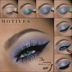 Motives® Eye Base - Single Jar g) - Oriel D. Motives® Eye Base - Single Jar g) - Oriel D. Motives® Eye Base - Single Jar g) . Makeup Eye Looks, Eye Makeup Steps, Blue Eye Makeup, Smokey Eye Makeup, Skin Makeup, Eyeshadow Makeup, Blue Eyeshadow, Pen Eyeliner, Eyeshadows