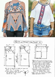 New sewing patterns free clothes shirts ideas Blouse Pattern Free, Blouse Patterns, Clothing Patterns, Fashion Sewing, Diy Fashion, Free Clothes, Diy Clothes, Sewing Blouses, Make Your Own Clothes