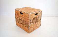 Box container stool. Option to replace the block stool? In ply?