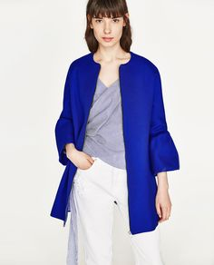Image 2 of FRILLED SLEEVE COAT from Zara