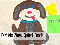 DIY no sew quiet book - lots of cute ideas!