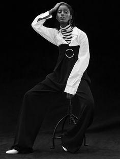 Senait Gidey by Alvaro Beamud Cortés for Stylist France July 2015. Fashion editor: Marina Gallo Hair stylist: Ilham Mestour Makeup artist: Luciano Chiarello
