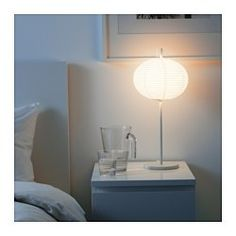 SOLLEFTEÅ Table lamp with LED bulb, white - IKEA