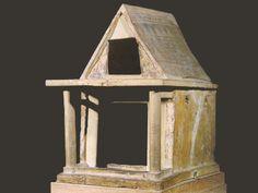 Modellino di tempio dell'Heraion di Argo, ca 725-700 a.C.; terracotta dipinta; Atene, Museo Archeologico Nazionale.