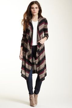 Long Open Front Cardigan.