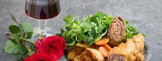 Roladki wołowe z pieczonymi ziemniakami #intermarche #roladki #wołowina