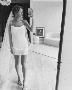 Mini Wedding Dresses, Wedding Dress With Veil, Bridal Dresses, Wedding Goals, Dream Wedding, Wedding Day, Classy And Fab, Sarah Seven, Civil Wedding
