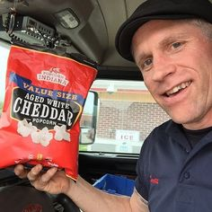 We love that our fans keep Popcorn, Indiana in their workspace... even if that happens to be the cab of a truck! Thanks for sharing your photo with us, @scottyrj! #Regram #popcorn #popcornindiana #truckers #trucker #truckin #atwork #ontheroad #regrammed #getgoing #fun #yum #goodfood #thanks #cab #working #share #agedwhitecheddar #cheesy #cheeselovers #thegoodstuff #SnacksonSnacks #indulge #delicious #dessert #popcorn#guiltypleasure #nomnomnom #ohnomnom
