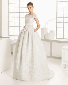 DESMOND vestido de novia de rejilla.