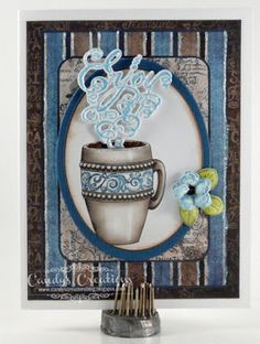 Enjoy Coffee Card by Candy S. - Cards and Paper Crafts at Splitcoaststampers
