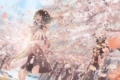 桜舞い散る光の先へ
