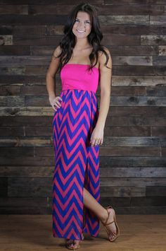 Forever & Always Chevron Maxi Dress this is so cute chevron is my new favorite pattern