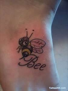 Bee Tattoo - change text to Buzz