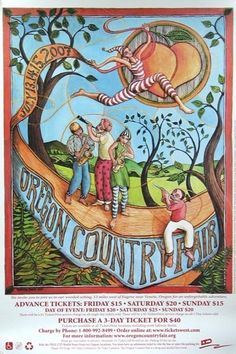 Oregon Country Fair Poster Last year I attended Oregon Country Fair, Washing Dc, Oregon Waterfalls, Oregon Washington, Willamette Valley, Hippie Festival, Covered Bridges, Pacific Northwest, Travel Posters