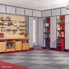 The garage is so frequently used as a catch-all for home improvement projects and off-season gear, these easy cabinets will be well worth your time and dollar. We've come up with plans for an easy storage system that can be modified to suit any garage. The best part