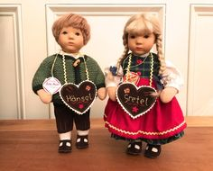 "KATHE KRUSE ""HANSEL AND GRETEL"" 10 INCH PAIR DOLL COLLECTIBLES 