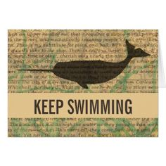 #template - #Vintage Whale Greeting Card Custom Template