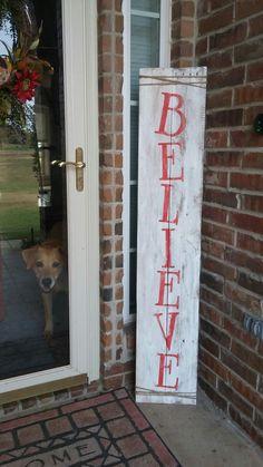 Believe pallet porch sign