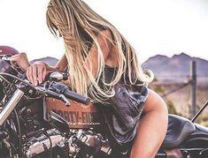 Epic Firetruck's Motor'sicles & Women ~ Dirt Bike Girl, Bicycle Girl, Motorbike Girl, Motorcycle Art, Lady Biker, Biker Girl, Biker Photoshoot, Motard Sexy, Chicks On Bikes