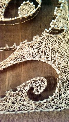 4 panel Octopus Nail and String Art by brokenwingArts on Etsy