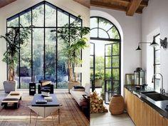 interior design steel window frames