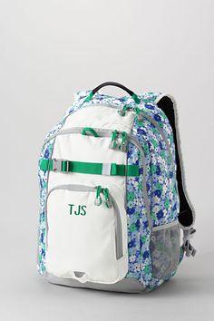 School Uniform Floral ClassMate® Large Backpack from Lands' End