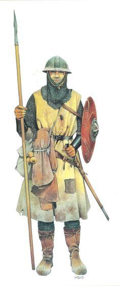 Hrvatski ratnik, početak 13. stoljeća,