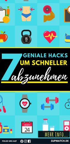 7 geniale Hacks um schneller Abzunehmen.