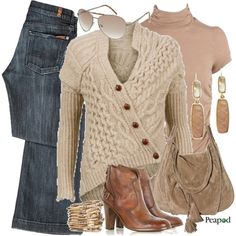 Making the cold look good.kind of country chic Love Fashion, Autumn Fashion, Cowboy Chic, Gold Outfit, Cool Sweaters, Complete Outfits, Jeans Style, Winter Outfits, Style Me