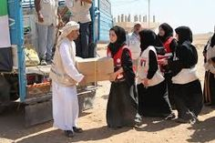 UAE assist convoy carrying meals parcels, garments, blankets and wheelchairs arrives in Gaza