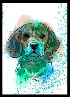 Beagle - Dog in Ar #beagle - Dog in Art