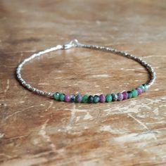 Ruby Zoisite Bracelet Ruby Zoisite Bracelets by TwoFeathersNY