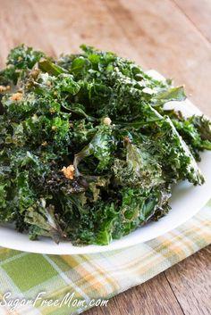 ... baked parmesan kale chips low carb healthy snacks kale chips parmesan